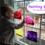 painting bags toddler activity