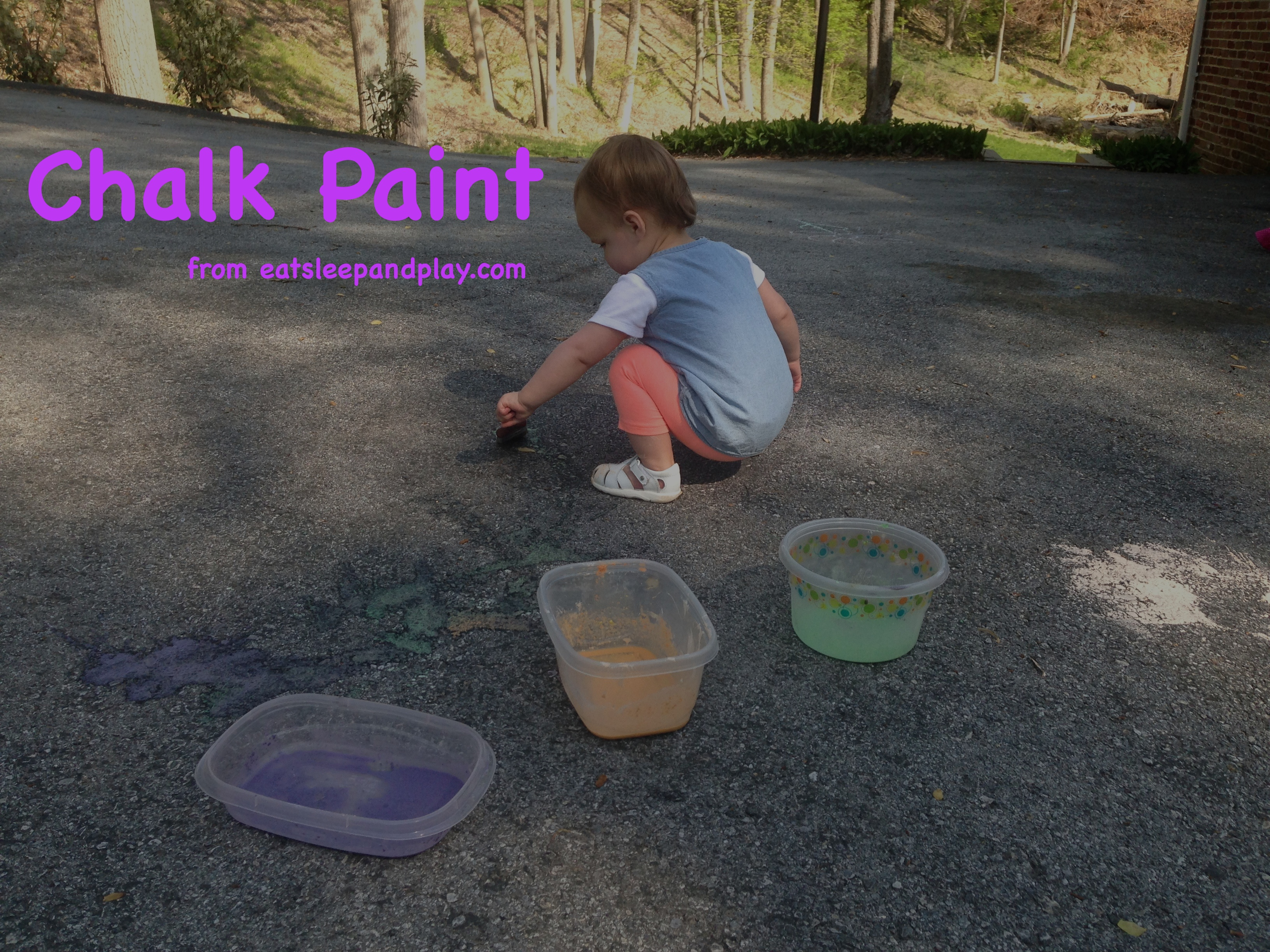 chalk paint toddler activity