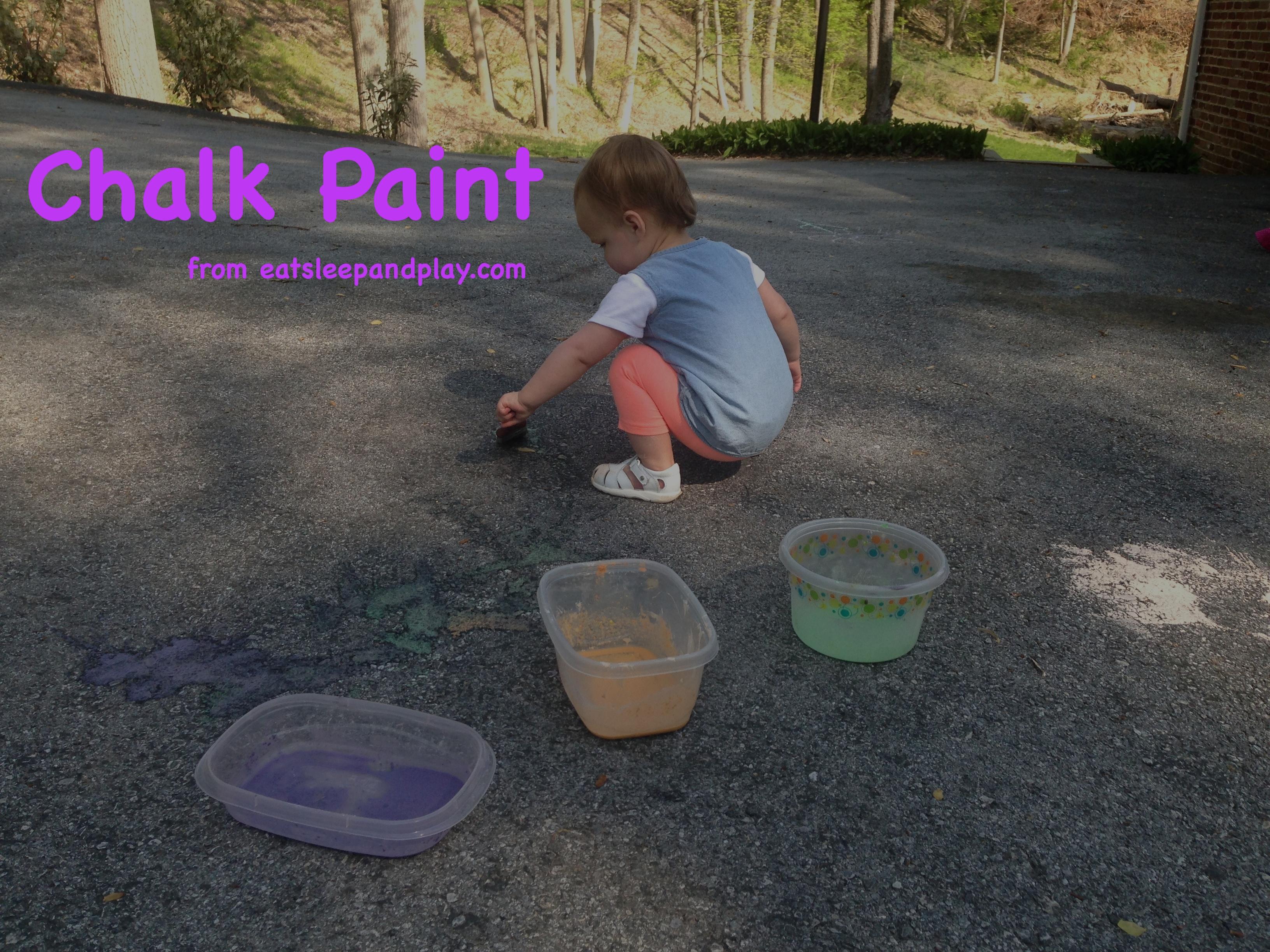 chalk paint toddler activity