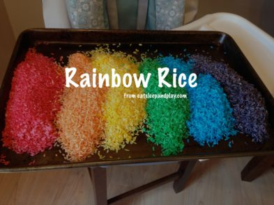 rainbow rice todler activity