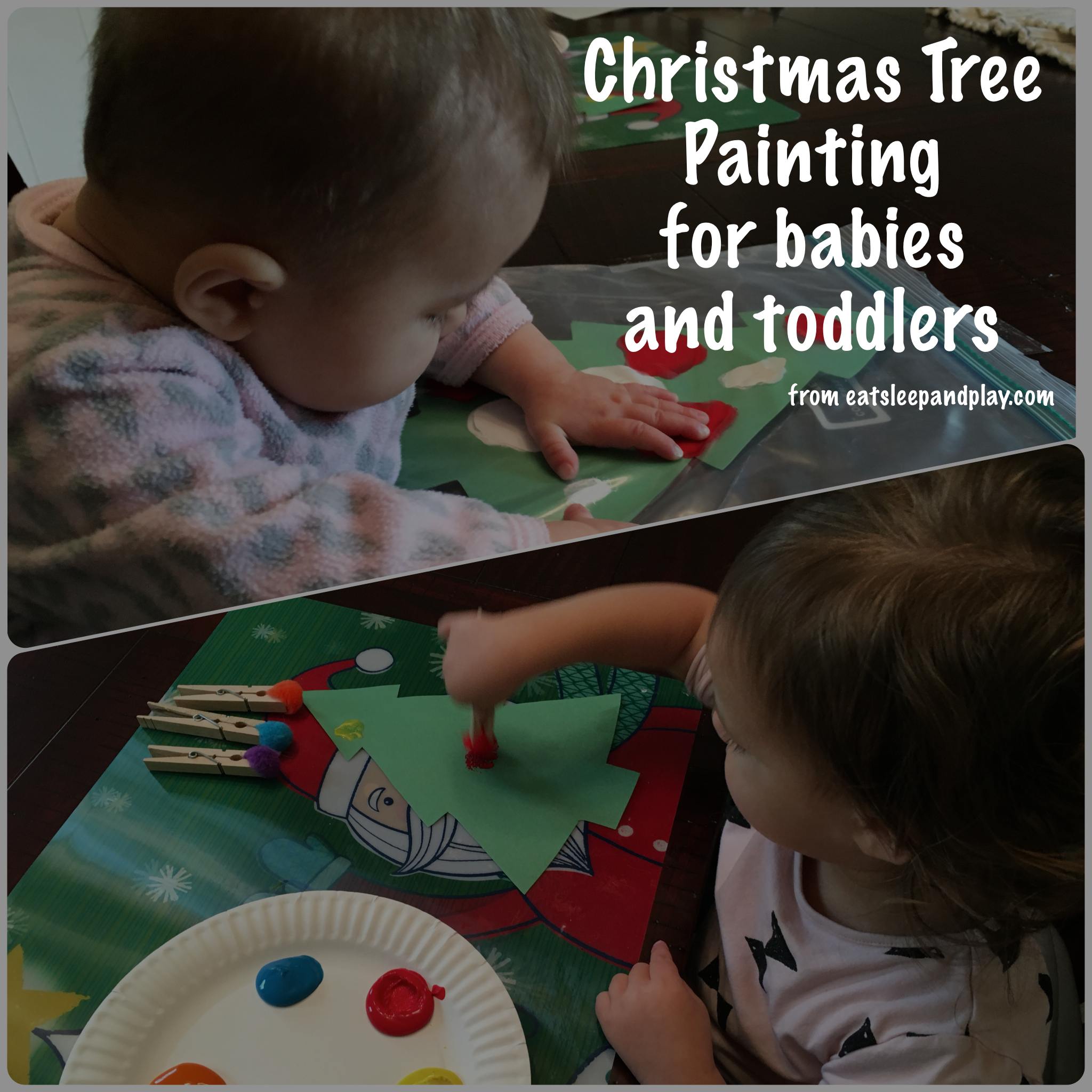 Christmas Tree Painting, toddlers 18 months+