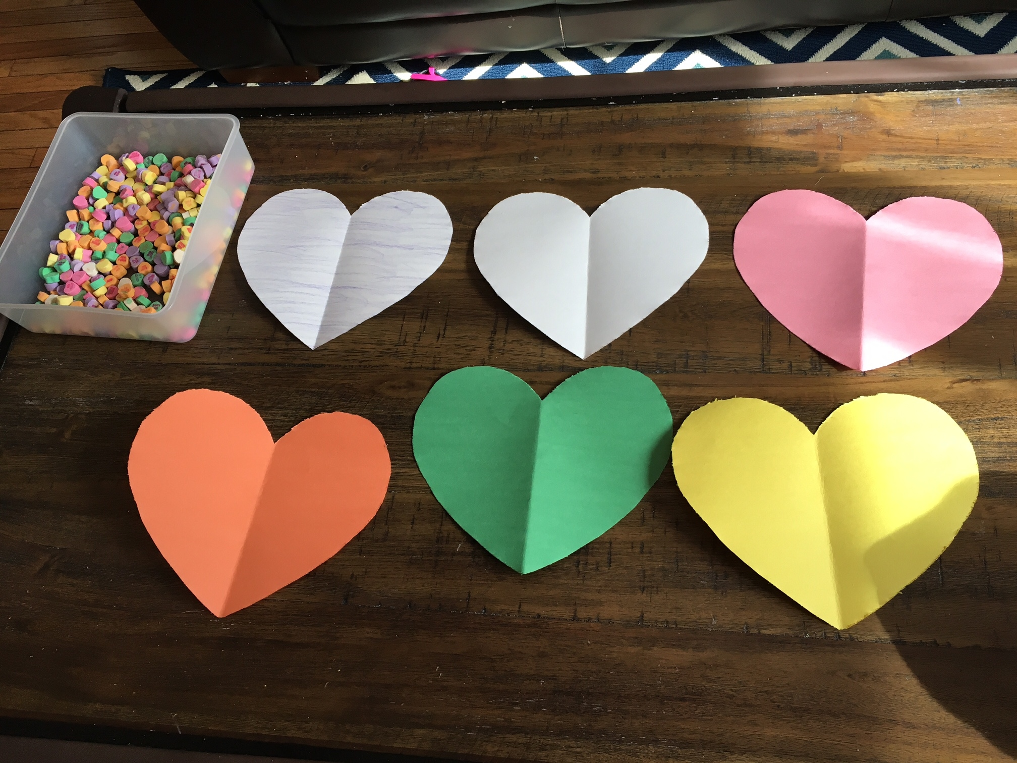 learn with candy hearts