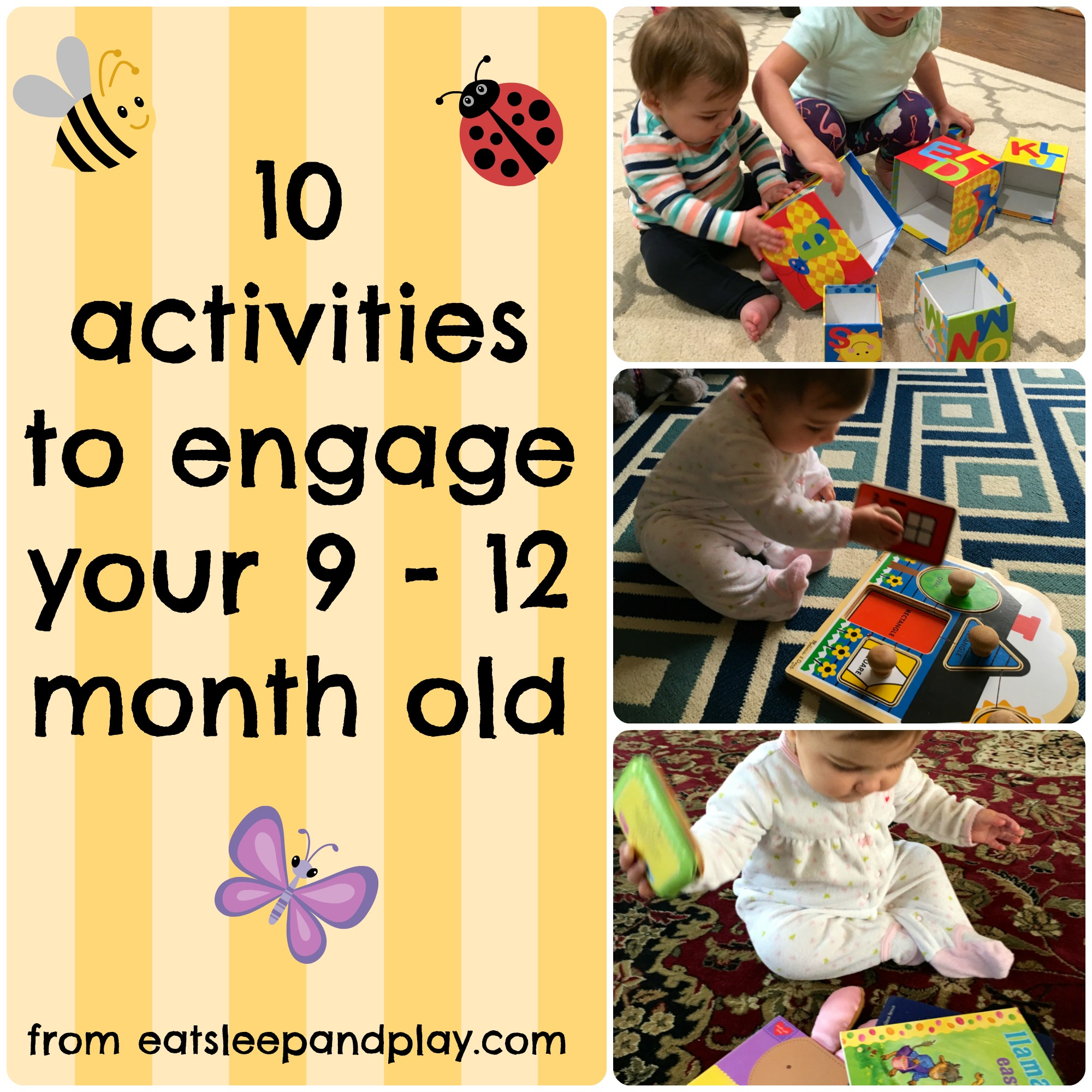 10 Activities For 9 12 Month Olds