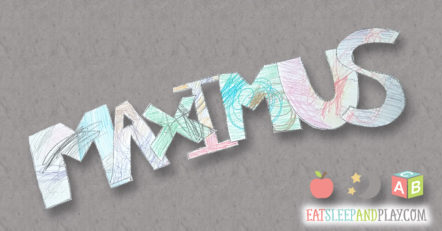 Maximus cutout for the giant name tag