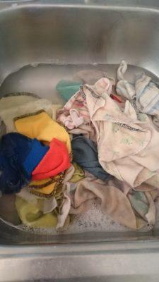 start soaking cloth wipes